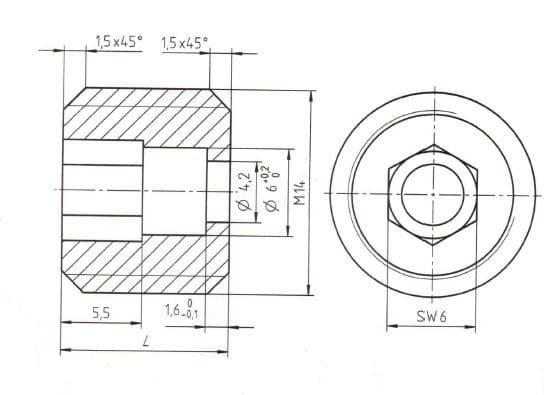 Gewindestift M14x11.5, ArtNr.78140190